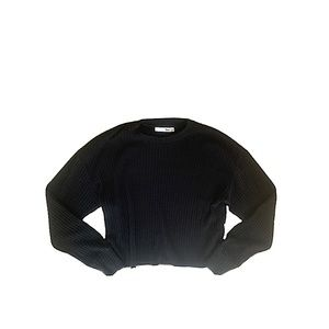 Wilfred Free | Black cropped ribbed long sleeve